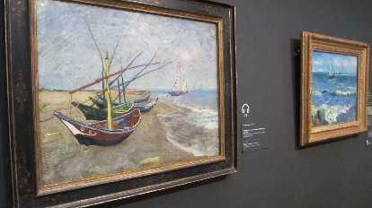 """Fishing boots on the beach of Les Saintes-Maries-de-la-Mer"" by Vincent van Gogh."