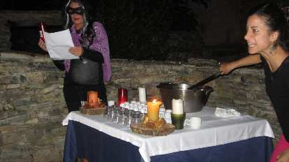 Carlota during the queimada ritual.