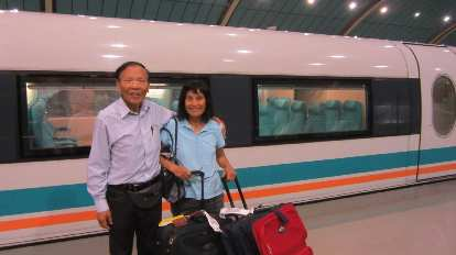 The first thing my dad and mom and I did upon arriving in Shanghai was taking the 300+ kilometer/hour MagLev train, the fastest in the world.