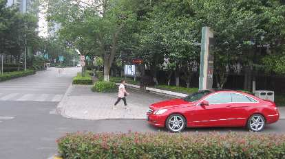Elegant Mercedes-Benz in Suzhou.