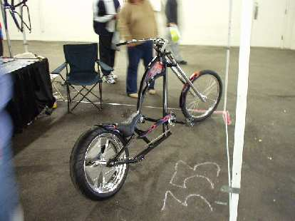 Spiffy fat-tire low-rider...