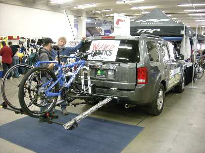 The mother of all bike racks (shown on a Honda Pilot).