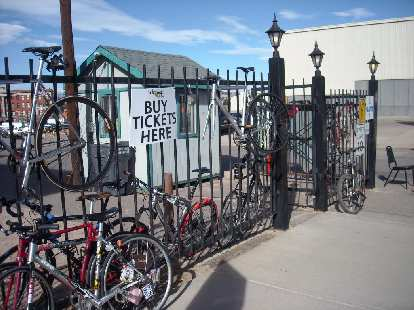 Bikes outside the National Western Complex in Denver.