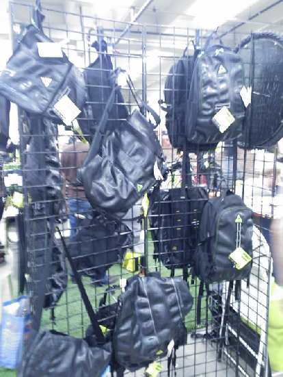 Green Guru's bags made from discarded bicycle tubes.