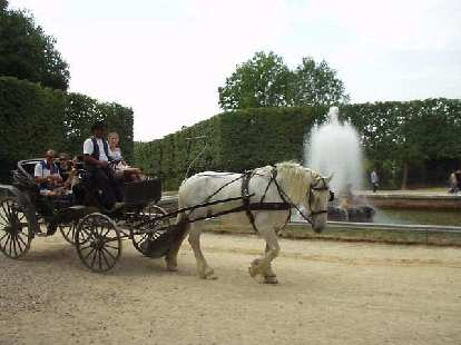 Tourists could get horse-and-carriage rides, just like in the 17th century, if they were so inclined.