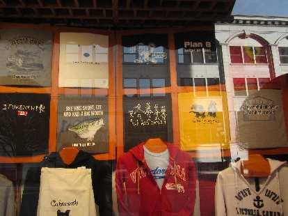 Various T-shirts.