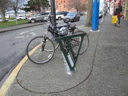 """""""V"""" bicycle racks."""