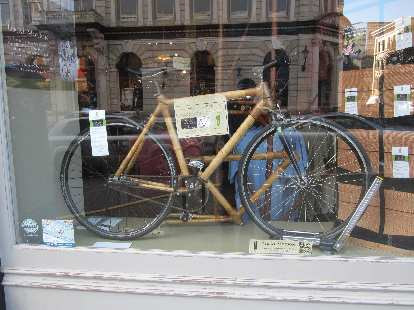 Grass Frames bamboo bicycle.