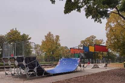 A skateboard park at Stadtpark in Vienna.