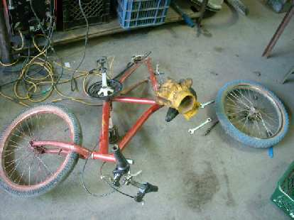 This customer bike also had shot bearings and cups.