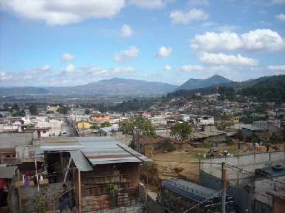 The nice view of Guatemala from the rooftop of Maya Pedal.