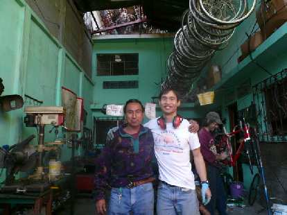 Me and Carlos on my last full day at Maya Pedal.