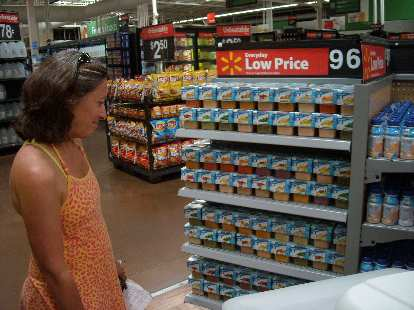 """Mmmm, baby food,"" thought Alene. She bought a few for the race."