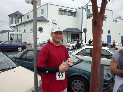 Bob at the finish.  We agreed that this was a beautiful course and a very fun event.