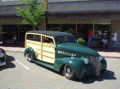 A nice two-door woody wagon.
