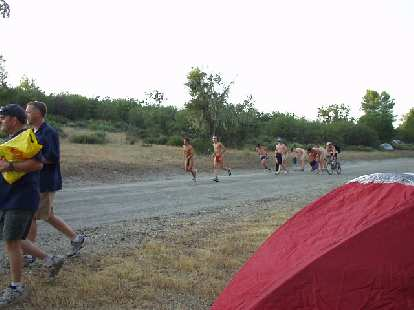 After we returned to camp there was quite a bit of commotion as numerous Cal Poly/San Luis Obispo co-eds decided to run a few laps... in the nude.  Needless to say, despite the scorching heat, a good time was had by all.