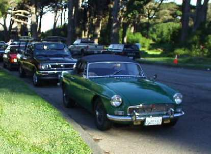 ...and a British Racing Green MGB.  This would inspire me to replace Goldie's starter later that afternoon.  Long live British iron!