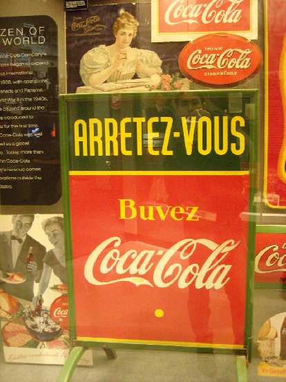 French Coca-Cola sign.