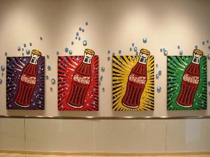 Coca-Cola pop art.