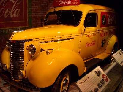 Old Coca-Cola pickup truck.
