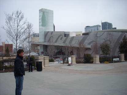 Dan in front of  World of Coca-Cola in Atlanta.