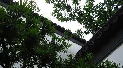 Roof at Xue Family Garden.