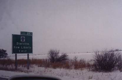 Stockton, Illinois (?), not Stockton, CA, our final destination.