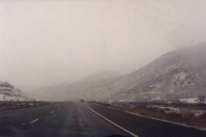 Snow resumes in Utah.