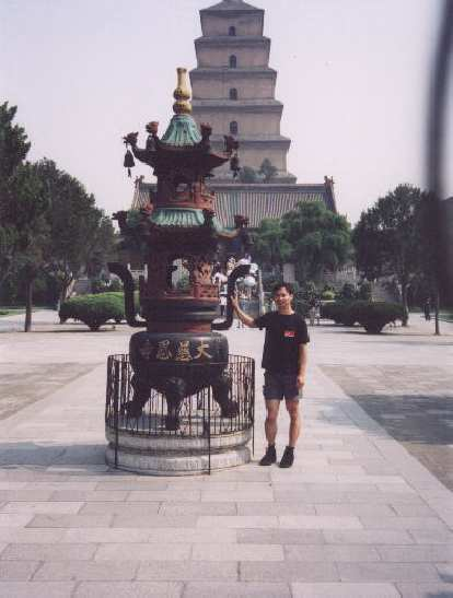 That's me in front of the Big Wild Goose Pagoda, I think...