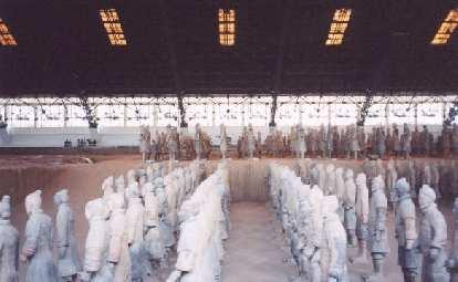 Reconstructed terra cotta soldiers.