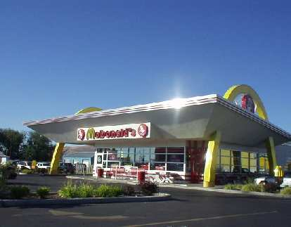 Main Street in Yakima was lined with strip mall after strip mall.  It did have, however, the most fabulous McDonald's I have ever seen.
