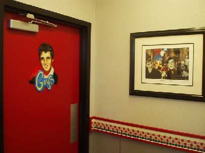 This McDonald's was fashioned after an old drive-in, kind of like a Mel's Diner in San Francisco.  The men's bathroom door even had Elvis on it...