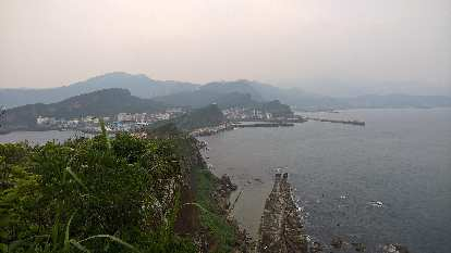 The view of the Yehliu Peninsula and the Pacific Ocean from Yehliu Geopark.