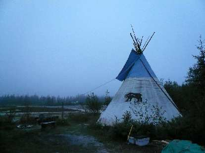 The teepee up close.