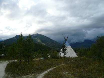 Near Golden, British Columbia (about 1.3 hours from Yoho), we stayed in a teepee for the night!