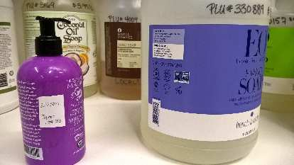 At the Fort Collins Food Co-op, you can fill your own soap dispensers with non-toxic, bulk soap. There are even locally made options.