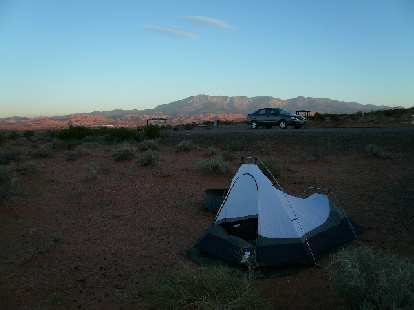 I camped at Sand Hollow State Park in Hurricane Valley.