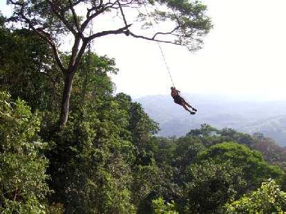 Raquel on the Tarzan swing.