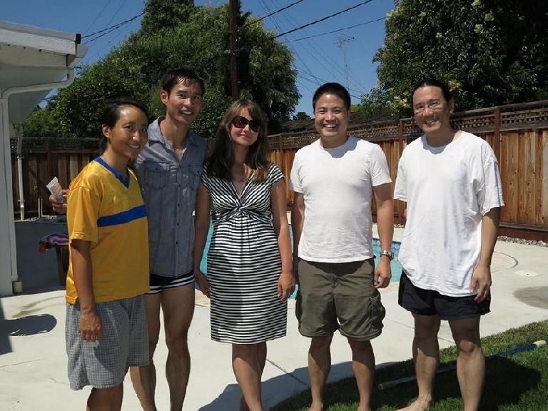 Rae, Felix, Katia, Loren and Adam on a happy Fourth of July.