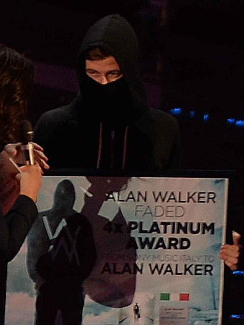 Alan Walker at the Wind Music Awards 2016 ceremony at the Verona Arena.