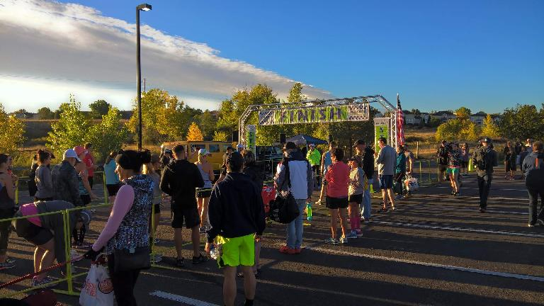 Runners at the start of the 2016 All-Out Fallfest Marathon.