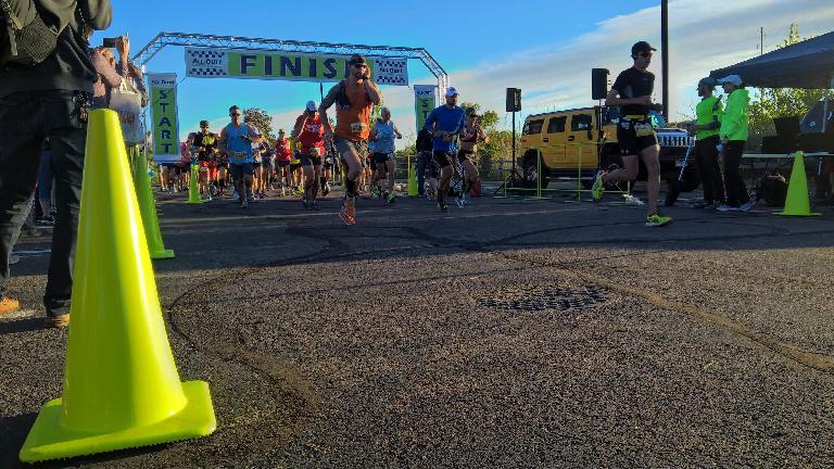 Runners begin the 2016 All-Out Fallfest Marathon.
