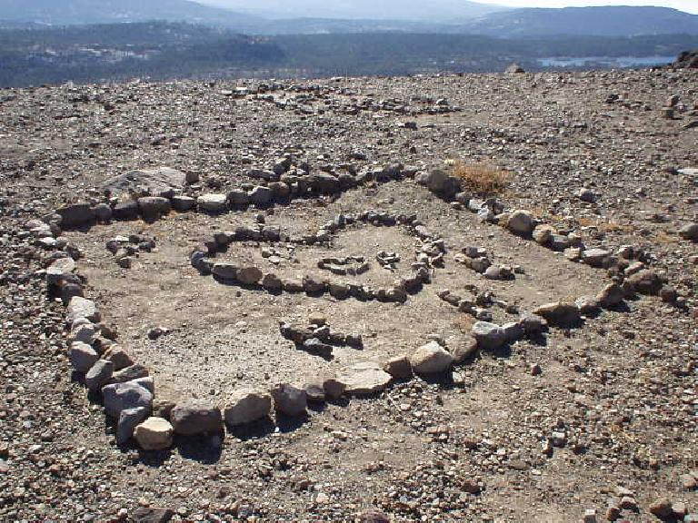 "11:01 a.m.: ""Inspirational"" rock gardens, this one of a heart."
