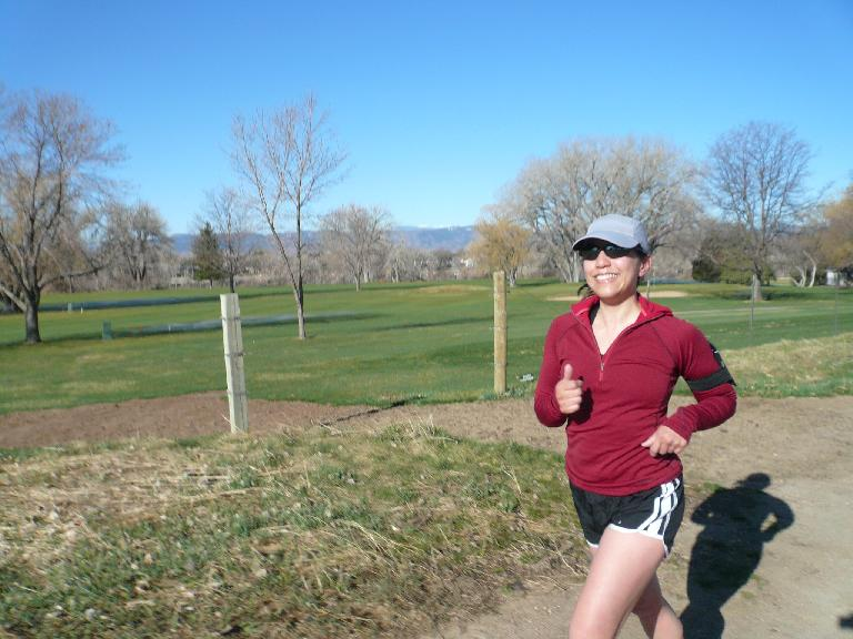 Alyssa on a morning run through my neighborhood and by the Country Club