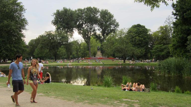 Sunbathing and taking a stroll in Vondelpark.