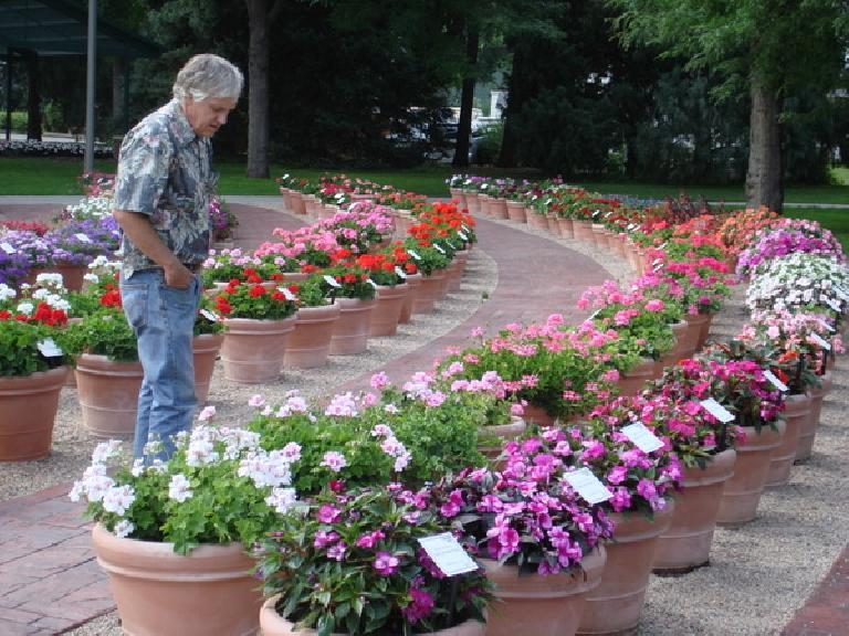 Tim at Colorado State University's Annual Flower Trial Garden. Photo: Ann Podbielski.