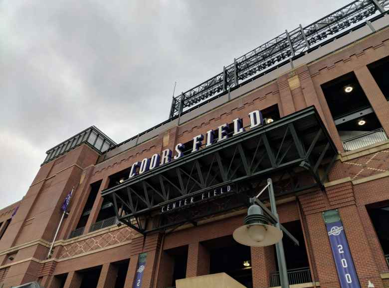 Outside Coors Field, where the Colorado Rockies play their home baseball games.