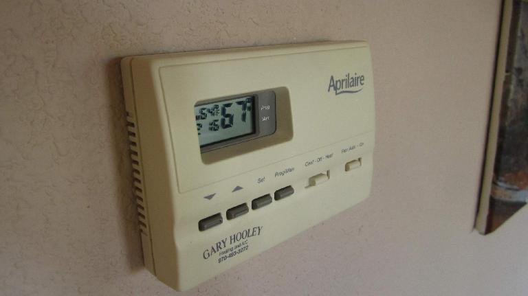 Aprilaire thermostat.