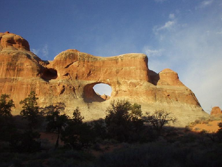 "I guess this is why the place is called ""Arches""--rock formations that look like this."