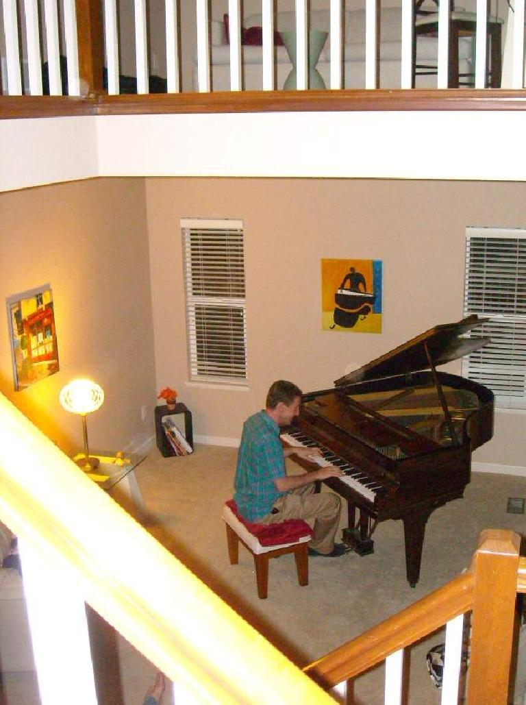 Tim playing some Cold Play on the piano.
